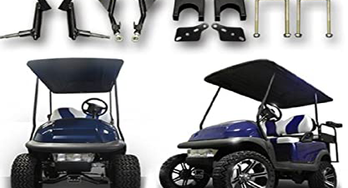 How to lift a golf cart without a kit